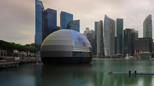 Новый Apple Store в Сингапуре будет стоять на воде
