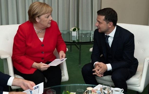 Зеленский обсудит события на Донбассе с Меркель