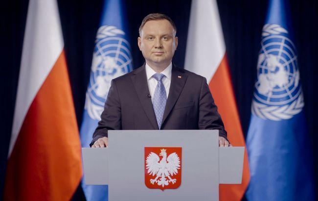 Дуда в ООН призвал к сотрудничеству в защите Украины от агрессии РФ