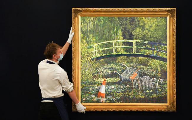Картину Бэнкси продали за $10 миллионов. Торги заняли 8 минут