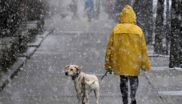 Неделя в Украине начнется с дождя и мокрого снега