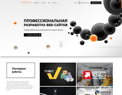 Профессиональная Разработка сайта с PUSH-K Solutions